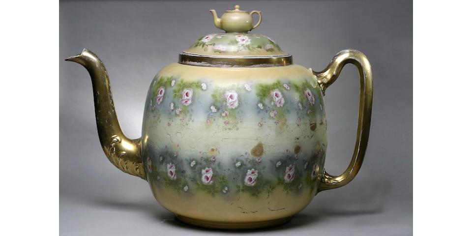 A massive Gibson exhibition teapot and cover, circa 1907-10,