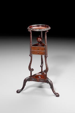 George III mahogany bowl stand