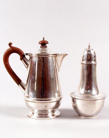 A silver water jug Birmingham 1933,