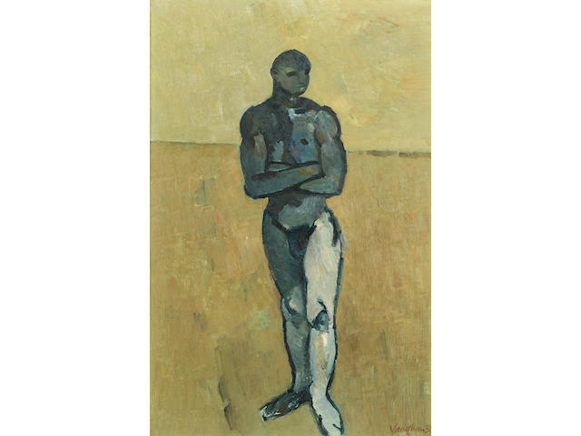 Keith Vaughan (1912-1977) Standing figure 46.5 x 30.5 cm. (18 1/4 x 12 in.)