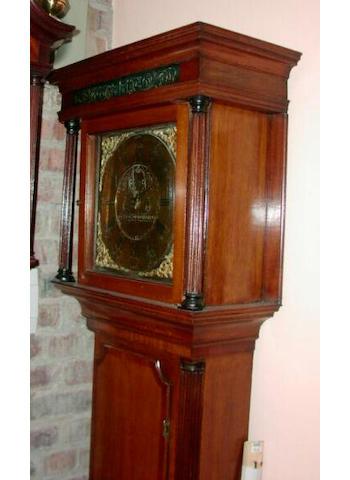 An oak and mahogany cross banded longcase clock, Thomas Richardson, Weaverham, circa 1785,