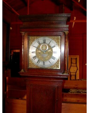 An oak longcase clock, Thomas Kefford, Royston, circa 1750,