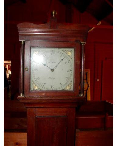 A mahogany painted dial thirty-hour longcase clock, John Weston, Hastings, circa 1820,