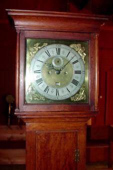 An oak longcase clock, Nicholas Blondel No.27, Guernsey, circa 1740,