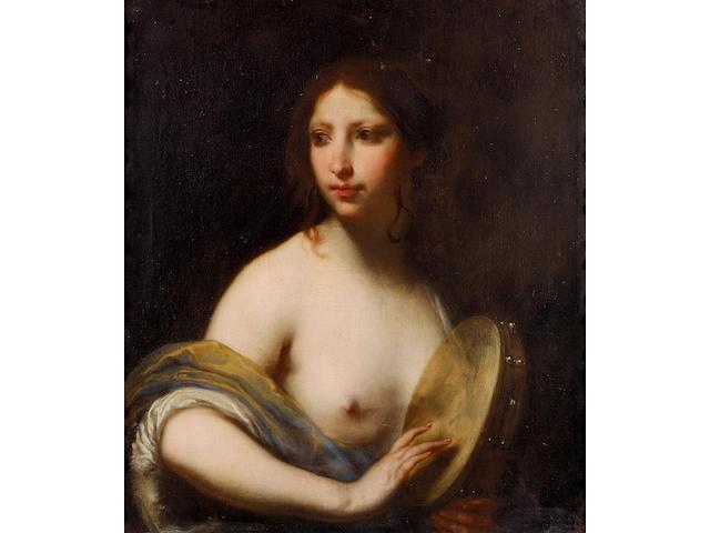 Francesco Furini (Florence 1604-1646) Erato 72.5 x 62.3 cm. (28½ x 24½ in.)