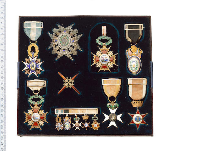 A rare collection of Spanish awards to Lieutenant Colonel J.Lynn, Royal Engineers who served as Brit