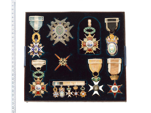 A rare collection of Spanish awards to Lieutenant Colonel J.Lynn, Royal Engineers who served as British Commissioner at the Headquarters of the Spanish Army,