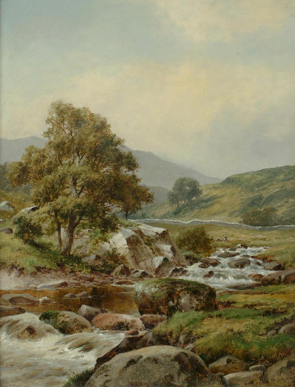 William Henry Mander (British, 1850-1922) Highland river landscapes, each 17 3/4 x 13 3/4in (45.2 x 35cm) (2)