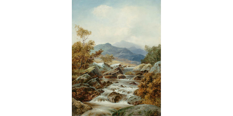 William Henry Mander (British, 1850-1922) Highland river landscapes, each 17 3/4 x 13 3/4in (45.2 x 35cm) (2)