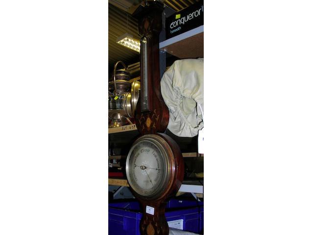 An early 20th Century mahogany Banjo barometer,