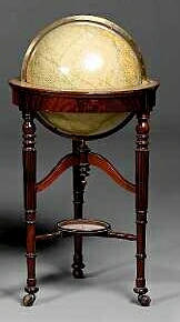 An 18-Inch Terrestrial Schoolroom Globe,  English and American,  early 20th century,