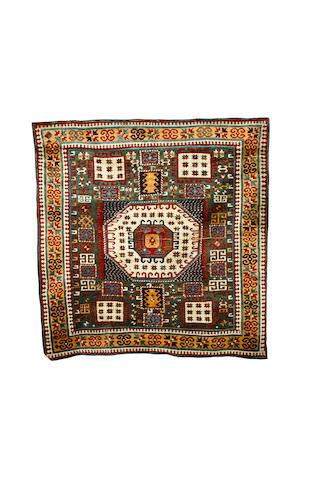 A Karachov Kazak rug Central Caucasus, 6 ft 5 in x 6 ft 3 in (196 x 190 cm) some minor damage