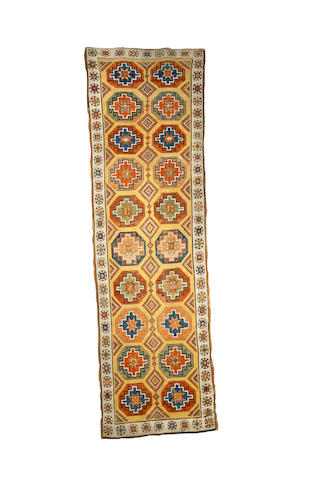 A Konya long rug West Anatolia, 12 ft 4 in x 3 ft 9 in (376 x 115 cm)