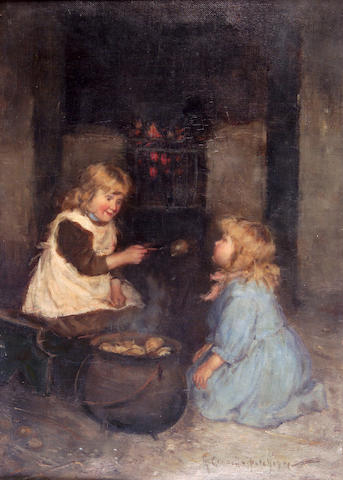"""Robert Gemmell Hutchison RSA RBA ROI RSW (1855-1936) """"Shut your eyes and open your mouth"""" 36 x 25.5cm"""