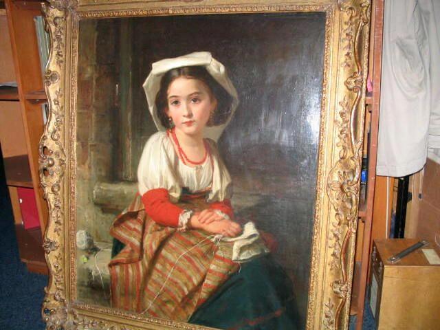 "Robert Herdman RSA RSW (1829-1888) ""Beatrice - Rome"" 84 x 70cm"