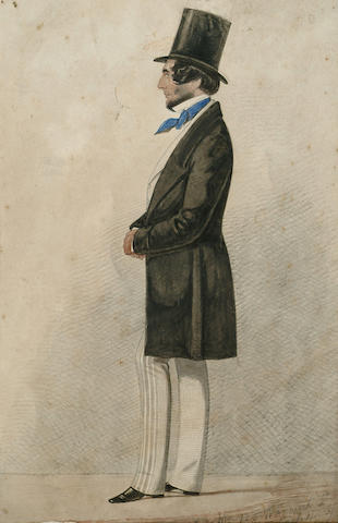 Richard Dighton (British, 1785-1880) Portrait of a Gentleman, 10 1/4 x 7 in (26 x 17.5 cm), unframed.