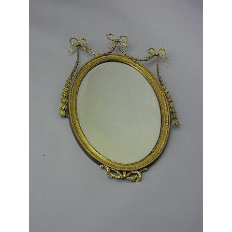 A 19th Century gilt oval wall mirror