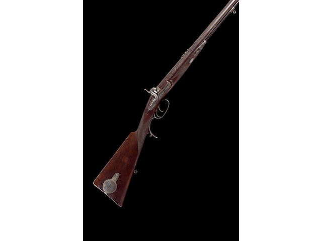 A Fine And Rare 16-Bore D.B. Percussion Sporting Rifle