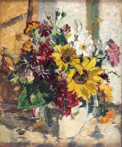Dorothea Sharp (1874-1955) Still life of mixed flowers 45 x 37cm