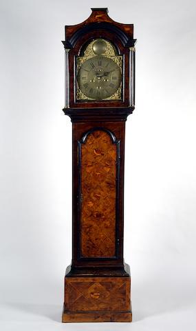 John Way, Newton St Loe, an 18th Century walnut veneered and oak longcase clock