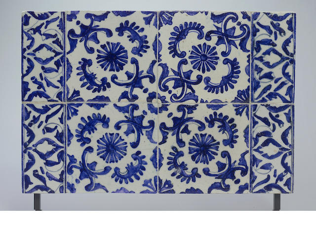 A Kutahya pottery Tile Panel Turkey, 18th Century (8)