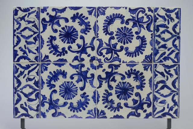A Kutahya pottery Tile Panel Turkey, 18th Century (8)