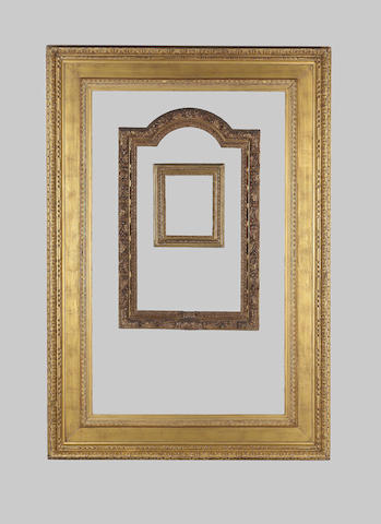 An English 19th Century gilded oak and composition Watts frame,