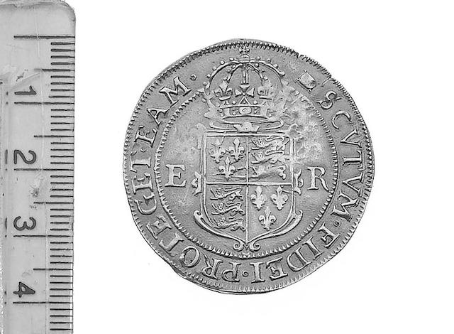 Elizabeth I (1558-1603),  Fifth issue Pound, mm woolpack.