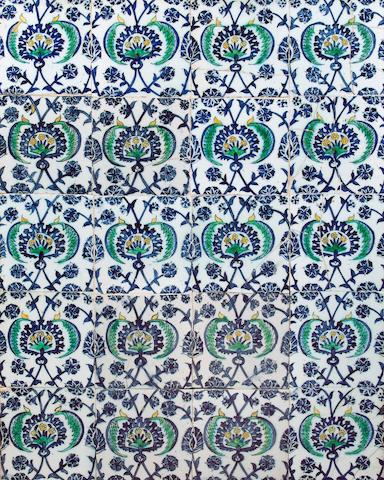 A panel of Kutahya pottery Tiles Turkey, circa 1750 AD (20)