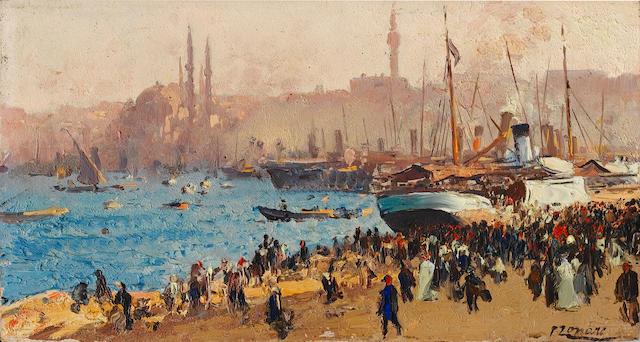 Fausto Zonaro (Italian, 1854-1929) The Golden Horn, Istanbul