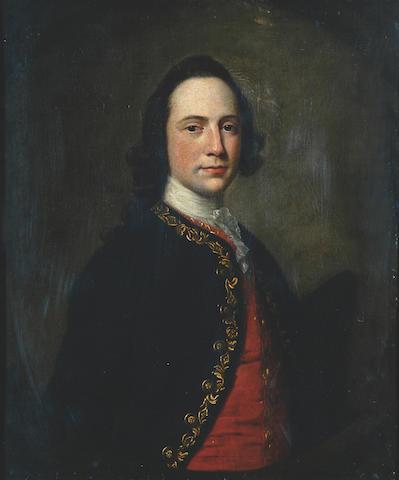 Attributed to Francis Coates (18th Century) 18th C Portrait of William Mason, c.1765 76.5 x 64cm (30 x 25¼in).