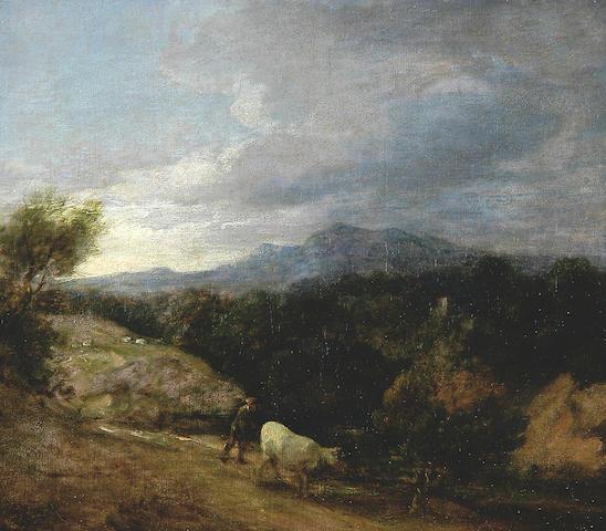 Thomas Gainsborough (1727-1788) 1727 Extensive Wooded Upland Landscape c.1786, oil on canvas, 25.5 x 33cm