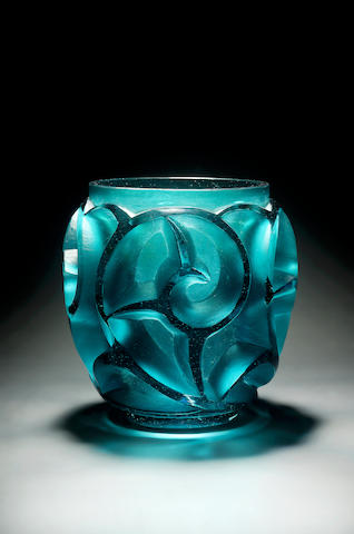 René Lalique, design 1926 'Tourbillons' A 'Sea Green' Glass Vase