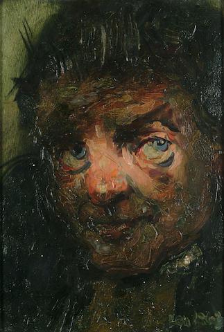 Robert O. Lenkiewicz (British, 1941-2002) Les Ryder 10 3/4 x 7 1/4 in. (27 x 18.5cm.)