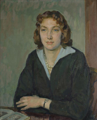Henry Lamb (British, 1883-1960) Portrait of Henrietta Phipps, the Artist's daughter 24 x 20 in.(61 x