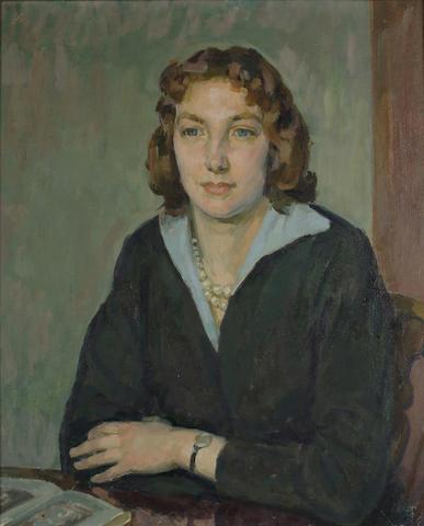 Henry Lamb (British, 1883-1960) Portrait of Henrietta Phipps, the Artist's daughter 24 x 20 in.(61 x
