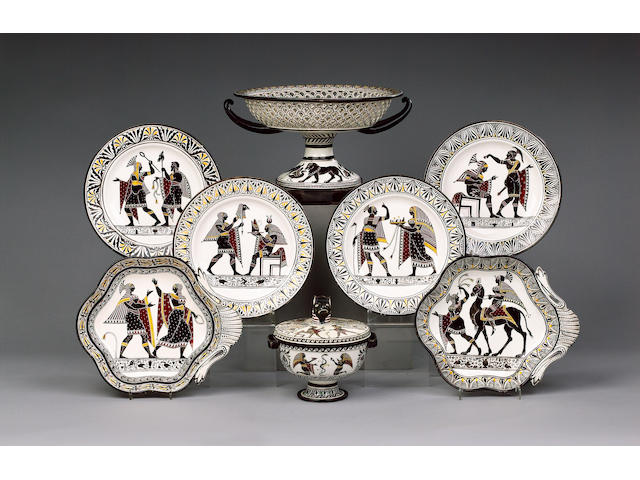 An extensive Guistiniani, Naples Dessert Service early 19th century