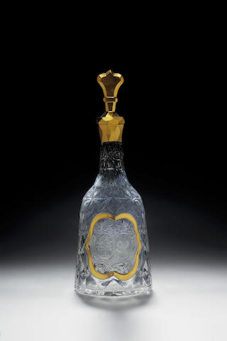 A fine German decanter and stopper mid 18th century