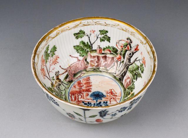 A Meissen hausmaler bowl circa 1740-50