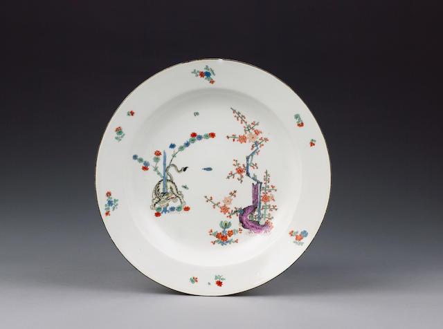 A Meissen kakiemon soup plate circa 1740