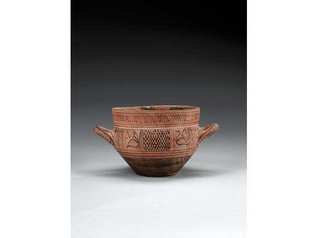 An East Greek pottery skyphos