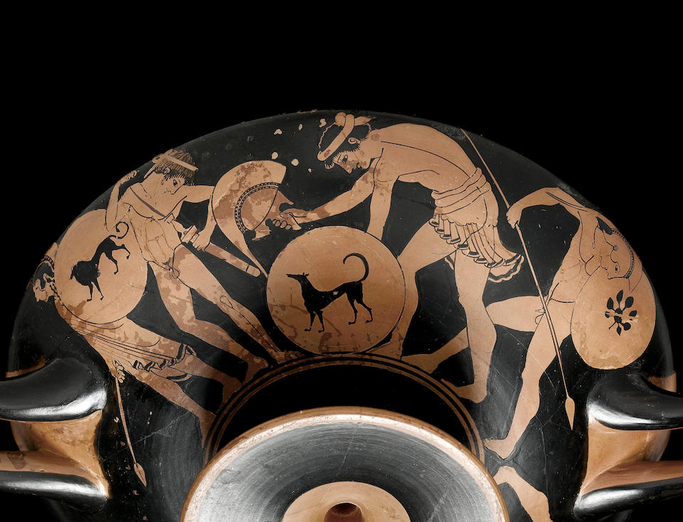 An Attic red-figure 'Kalos' kylix, attributed to the Proto-Panaitian Group