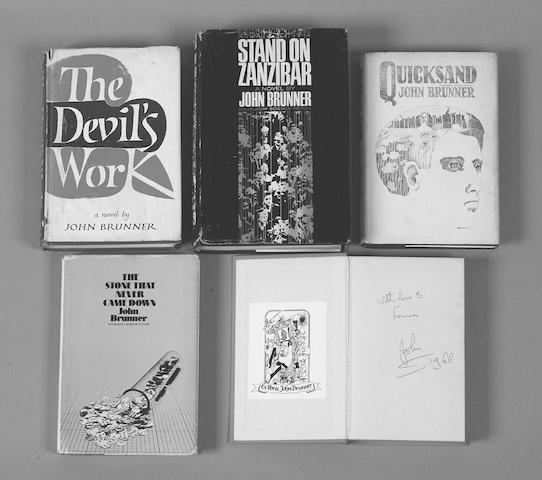 HAPPENING Worlds of John Brunner; The Devil's Work; The Crutch of Memory; Quicksand; The Sheep Look Up; A Plague on Both Your Causes (6)