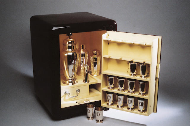 A rare and unusual 'Asprey Safe' cocktail cabinet