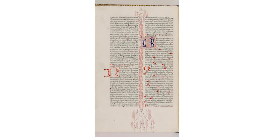 BIBLE 1475, in Latin, Biblia Latina, with a prolegomena by Saint Jerome