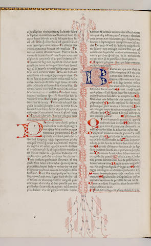 BIBLE 1475, in Latin, Biblia Latina, with a prolegomena by Saint Jerome