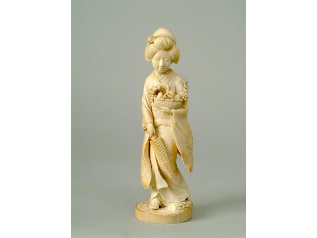 A Japanese ivory figure