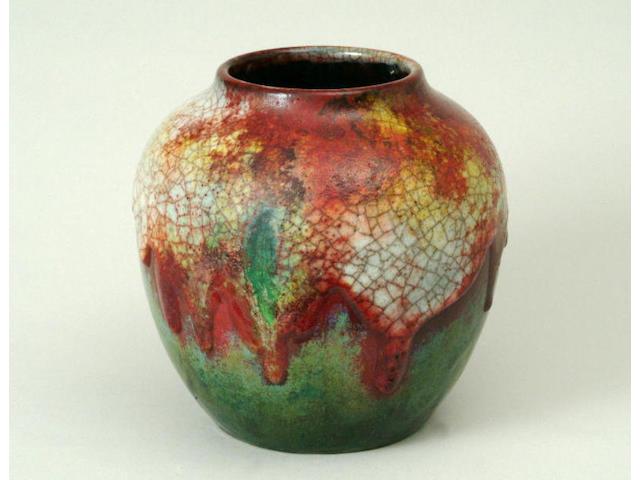 A Royal Doulton Chang ware vase