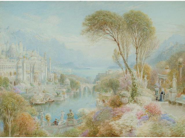 Ebenezer Wake Cook (British, 1843-1926), The Palace of Pearl, 27 x 36cm.