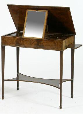 A George III mahogany dressing table,